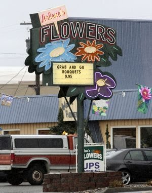 Arlene's Flowers in Richland, shown in this 2013 file photo, has been the center of a court case alleging the florist broke the state's anti-discrimination law by refusing on religious grounds to provide flowers for the wedding of a gay couple. (Bob Brawdy / The Associated Press)